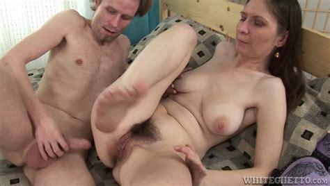 Son cums inside mother